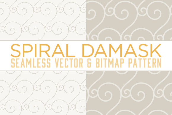 Seamless Spiral Damask Pattern