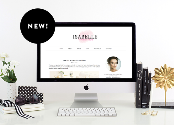 Isabelle Premade Wordpress Theme