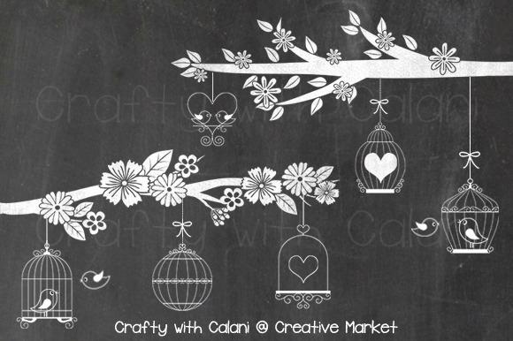 Chalkboard Love Bird Bird Cage