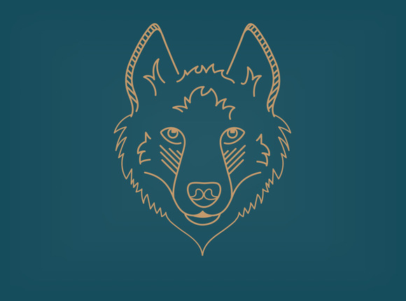 Siberian Husky Line Icon