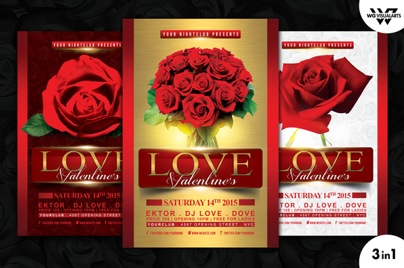 VALENTINE S DAY LOVE Flyer Template