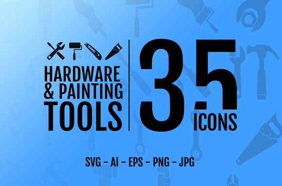 35 Icons Hardware Painting Tool