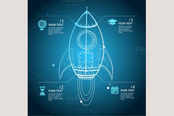 Vector Rocket Infographic