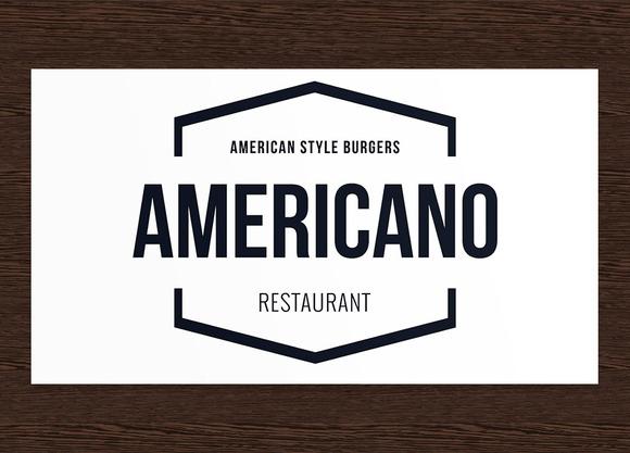 Americano Restaurant Logo PSD