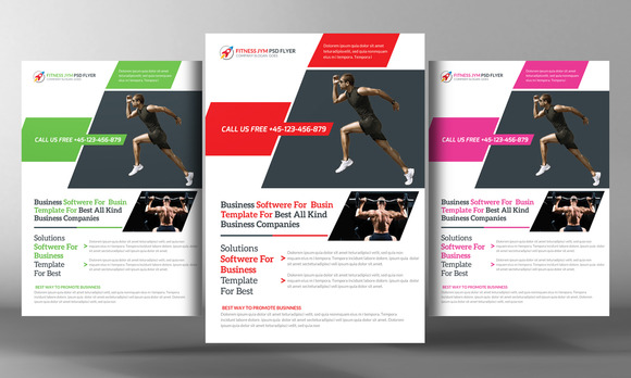 Fitness Time Flyer Template