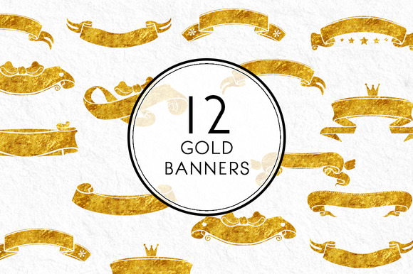 Gold Banners