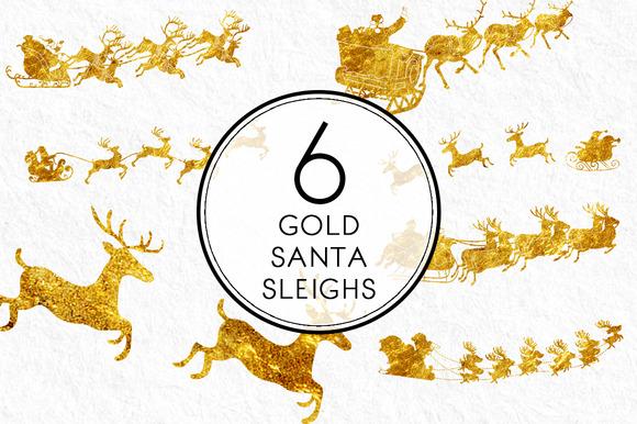 Gold Santa Sleighs