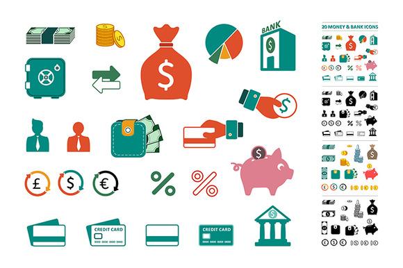 Money Bank Icons