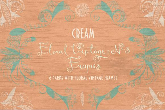 Floral Vintage Ўн3 Cream