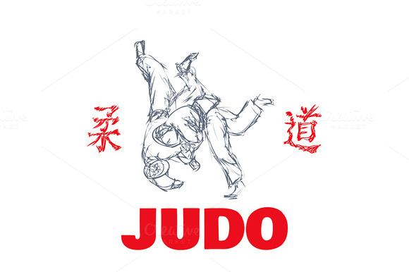 Judo Sport T-shirt Graphic Print
