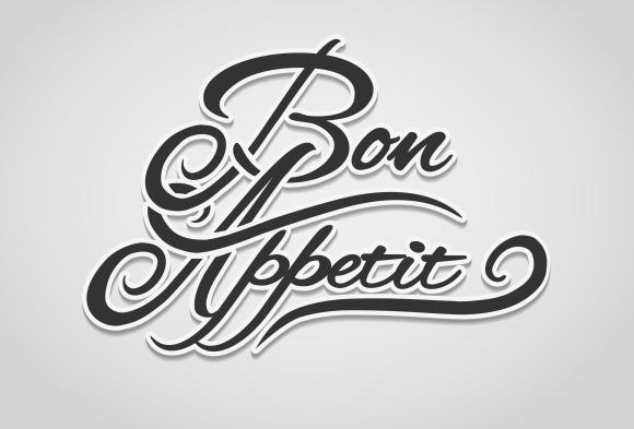 Bon Appetit Vector Lettering