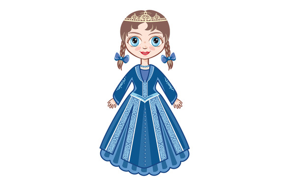 The Little Princess In A Blue Dress