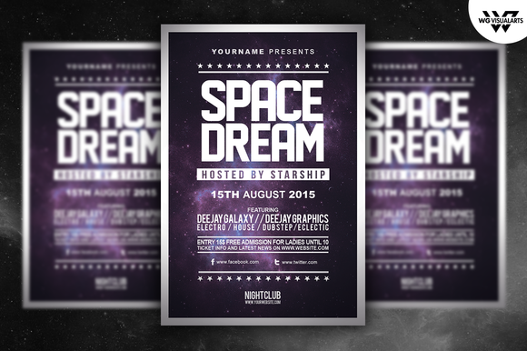 SPACE DREAM Minimal Flyer Template