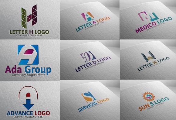 9 Letter Logo Pack
