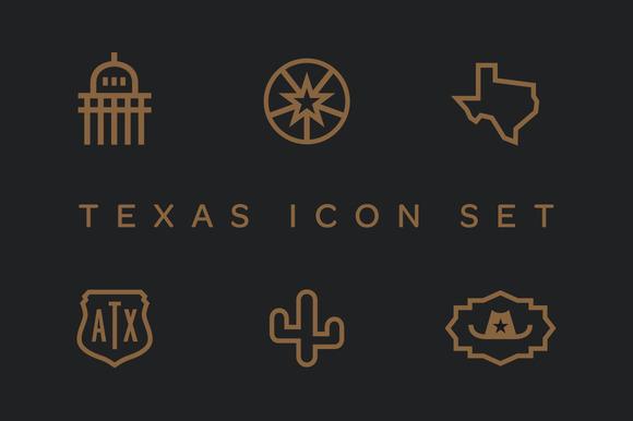 Texas Icon Set