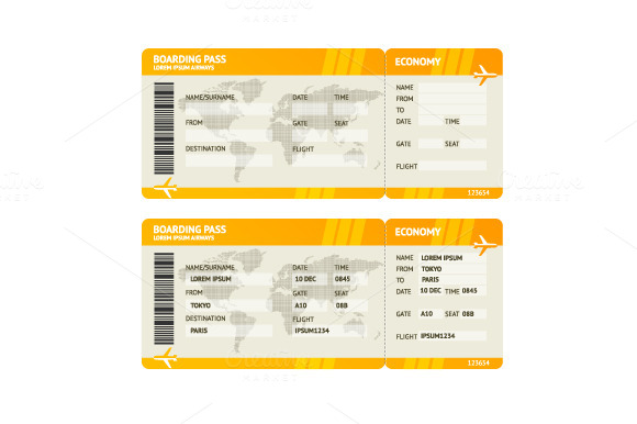 Airline Boarding Boarding Tickets