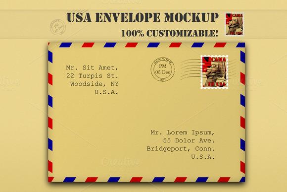 USA Paper Envelove Mockup
