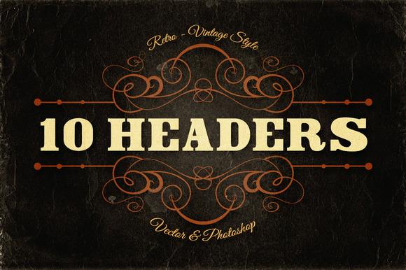 10 Retro Vintage Headers