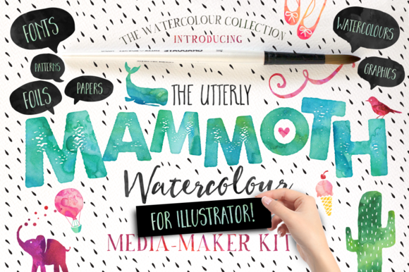 Mammoth Watercolour For Illustrator