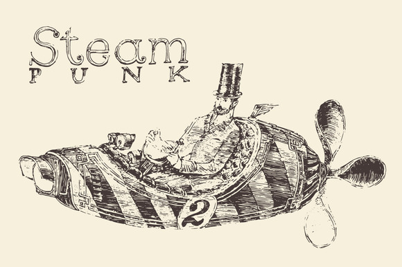Steam Punk Aircraft