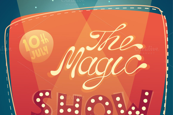 The Magic Show Signboard Background
