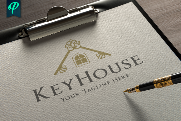 KeyHouse Real Estate Logo Template