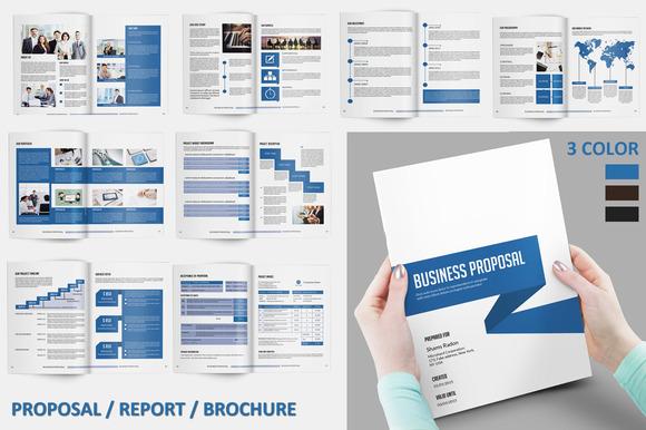 InDesign Proposal Report Brochure