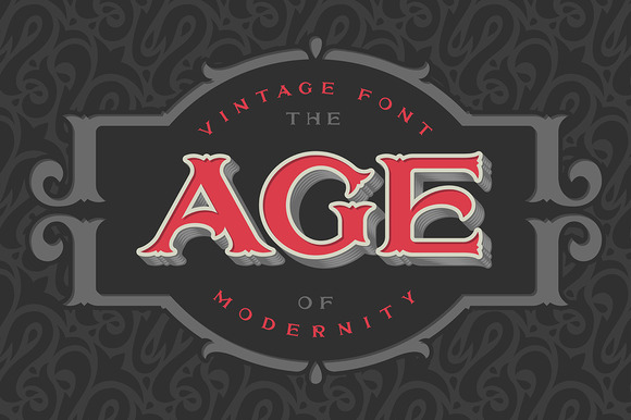 Vintage Font The Age Of Modernity