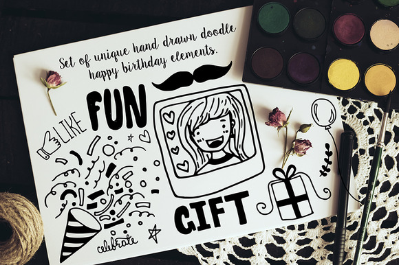 Set Of Hand Drawn Doodle Elements