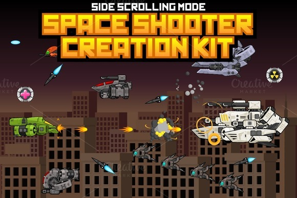 Space Shooter Kit Side Scrolling