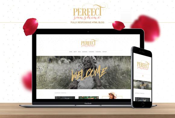 Perfect Sunshine HTML Blog Theme