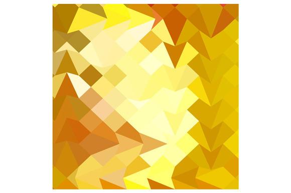 Amber Yellow Abstract Low Polygon Ba