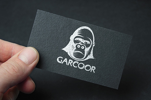 Animal Gorilla GARCOOR Logo