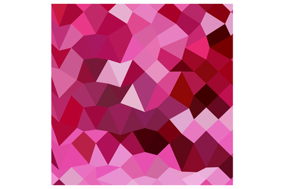 Cerise Pink Abstract Low Polygon Bac