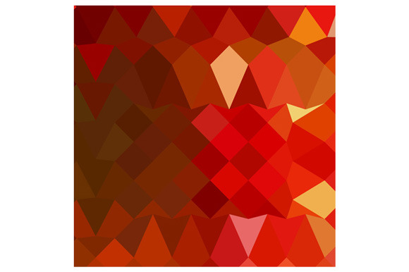 Incardine Red Abstract Low Polygon B