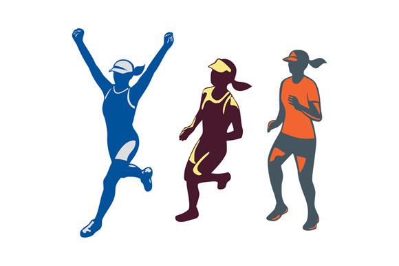 Female Triathlete Marathon Runner Co