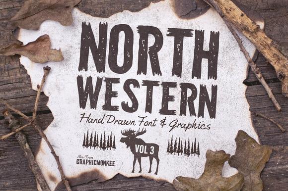 North Western Font Vectors Vol 3