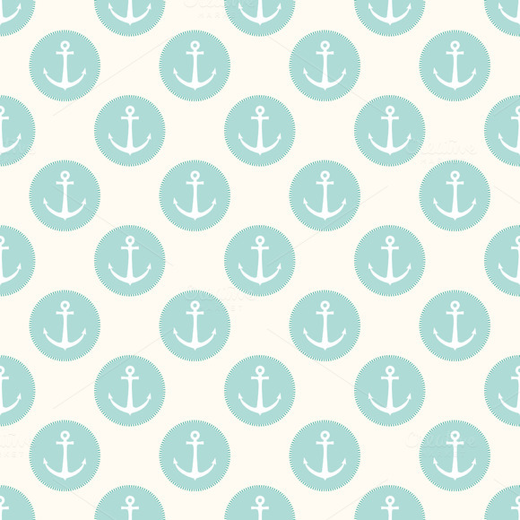 Vector Seamless Pattern With Anchors
