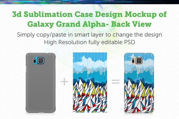 Galaxy Grand Alpha 3D Mockup