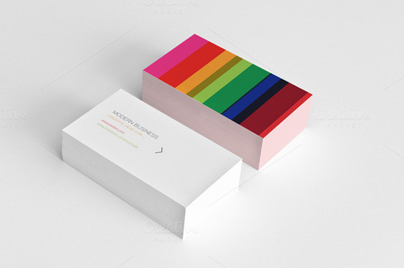 Minimal Colored Business Card