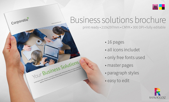 Business Solution A4 Brochure