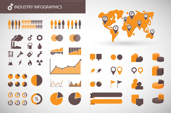Industry Related Infographics Set