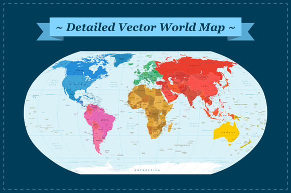 Comprehensive Vector World Map