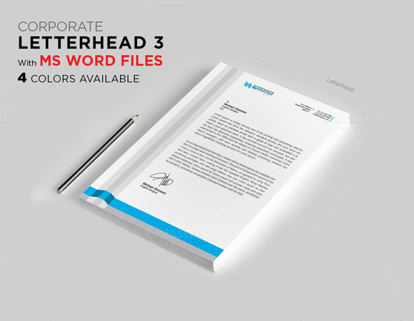 Letterhead 3 With MS Word File