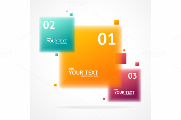 Vector Blurred Colorful Text Boxes