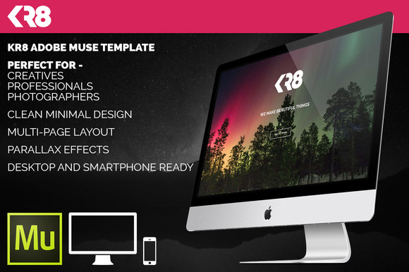 KR8 Adobe Muse Template