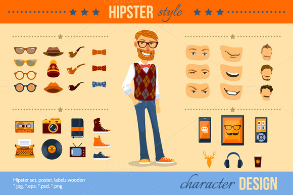 Hipster Style Set