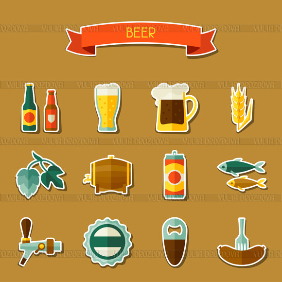 Beer Sticker Icons