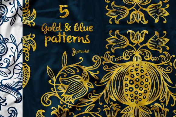 5 Hand-drawn Patterns Ornaments