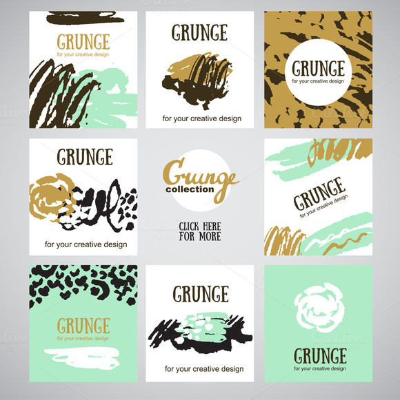 Grunge Brushes And Cards